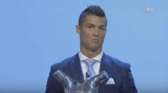 Chúc mừng cầu thủ xuất sắc nhất châu Âu năm nay: CRISTIANO