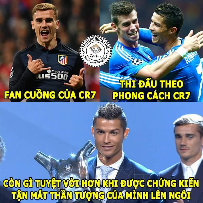 Hai thanh niên may mắn nhất đêm qua, #Bale và #Griezmann
