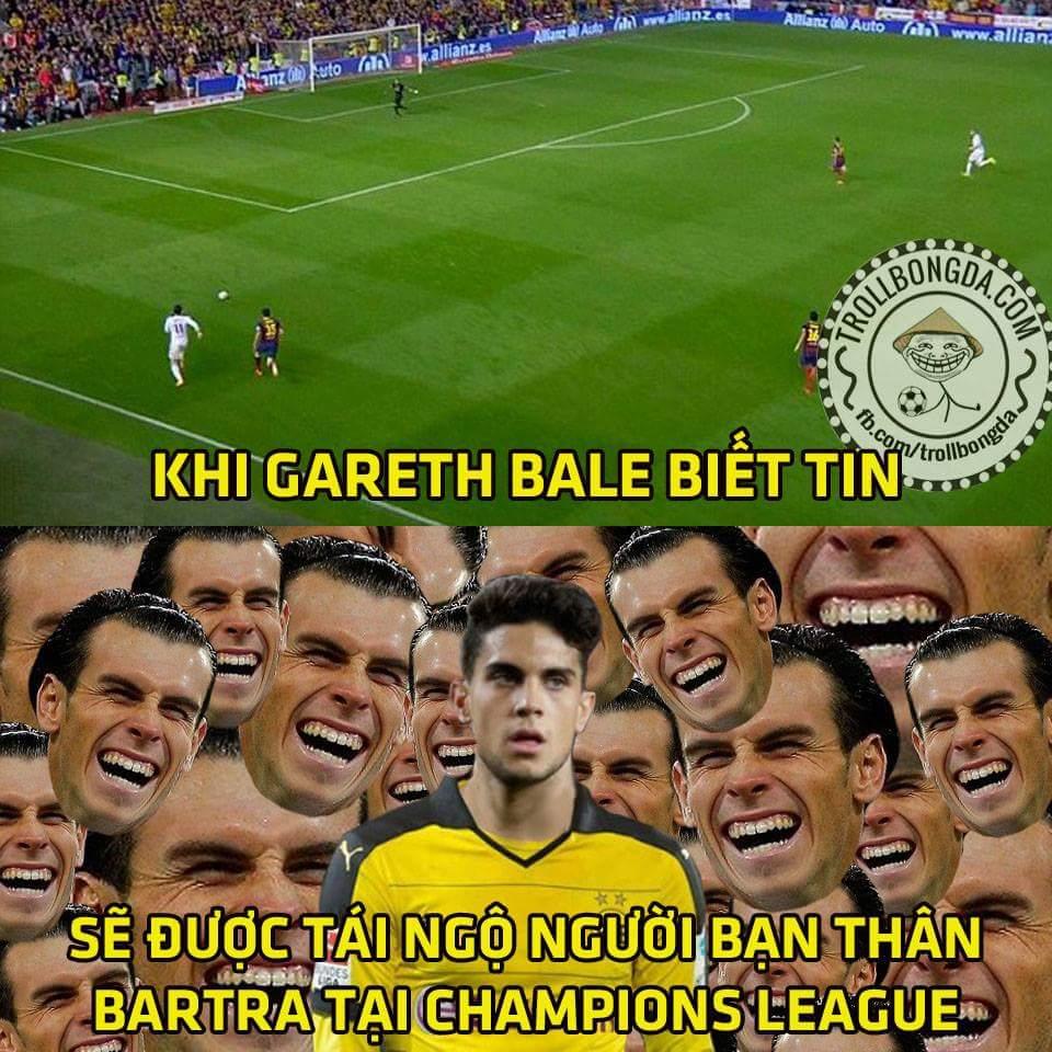 Nhọ quá chạy sang Đức rồi vẫn không thoát khỏi ông thần Bale