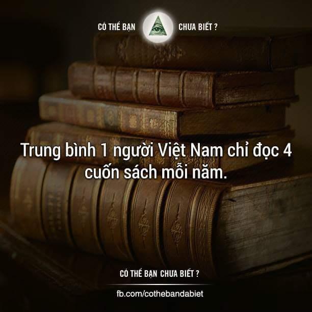 Bạn đọc bao nhiêu cuốn sách mỗi năm? :v :v  -----------------------------------------  Thứ...