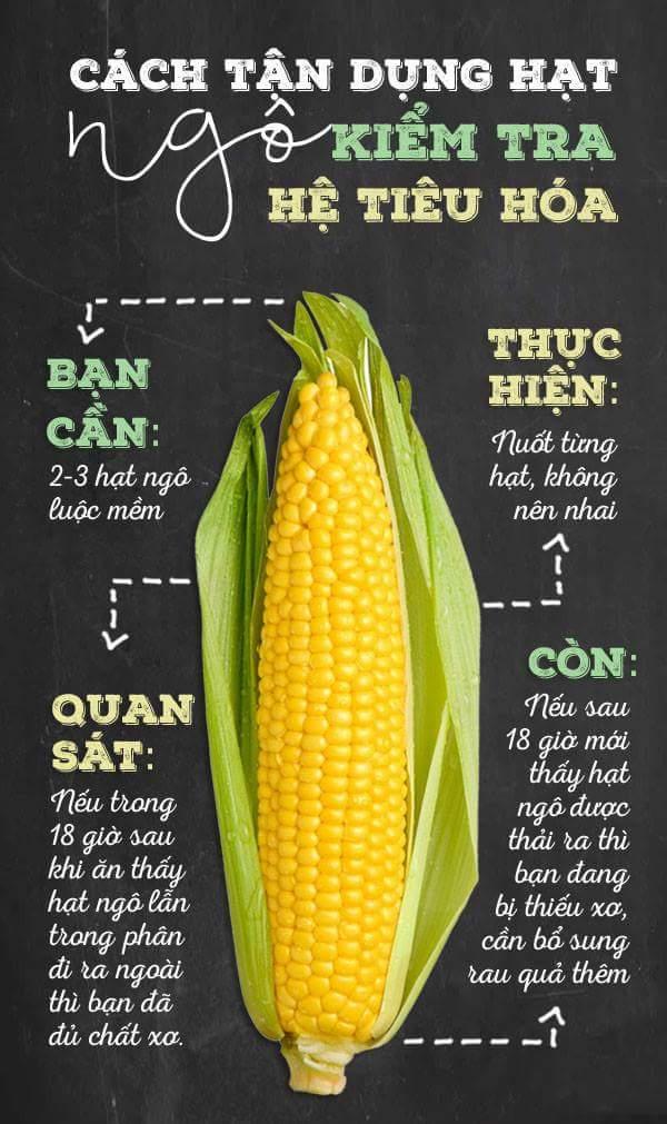 Cách kiểm tra xem mình có thiếu chất xơ không chỉ với vài hạt ngô  Ăn vài hạt ngô sẽ giúp kiểm...