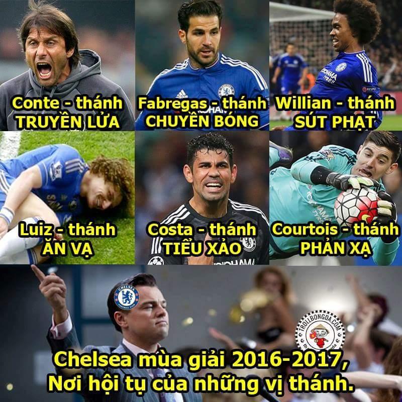 Từ vị trí tranh xuất trụ hạng mùa trước, mùa này Chelsea chính thức tập hợp team các vị Thánh...