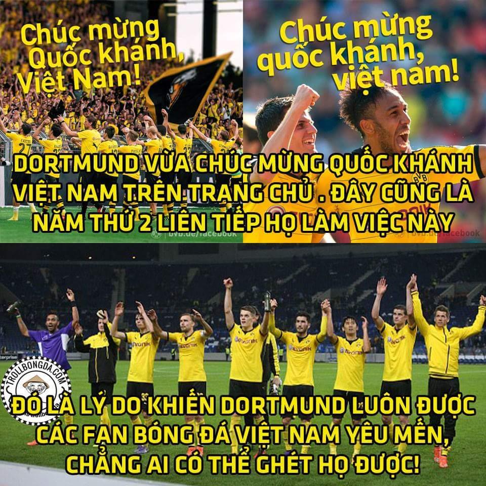 Hiếm có đội bóng nào quan tâm tới Việt Nam nhiều như Dortmund. Dortmund à tôi yêu các bạn <3 <3...