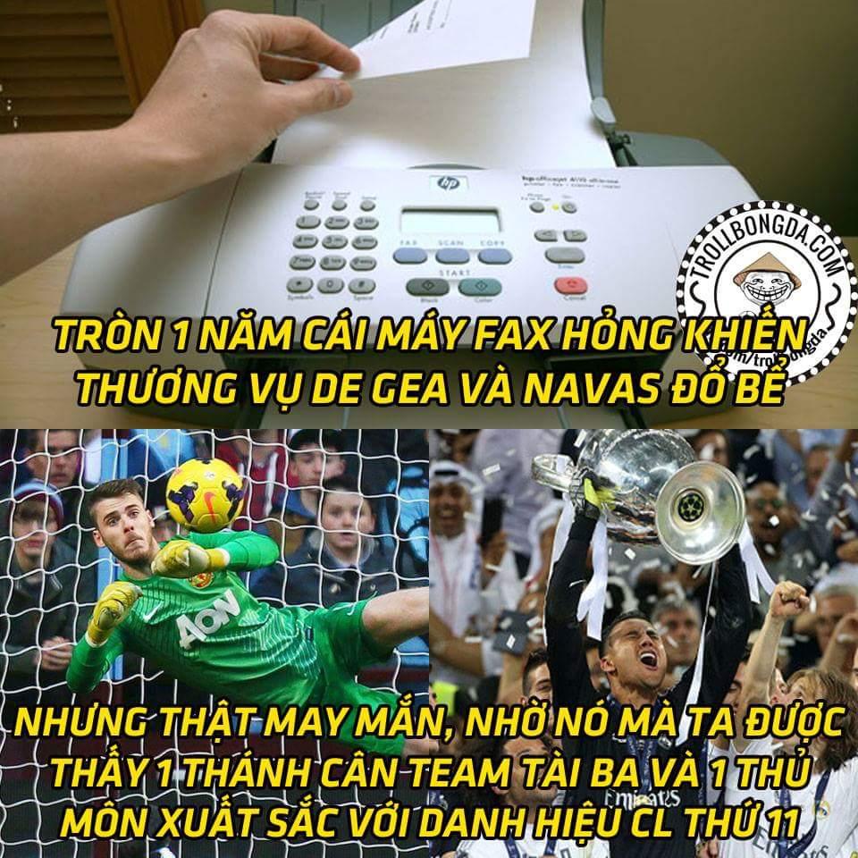 Quyết định của cái máy fax đã làm thay đổi vận mệnh De gea và Navas như thế nào :v...