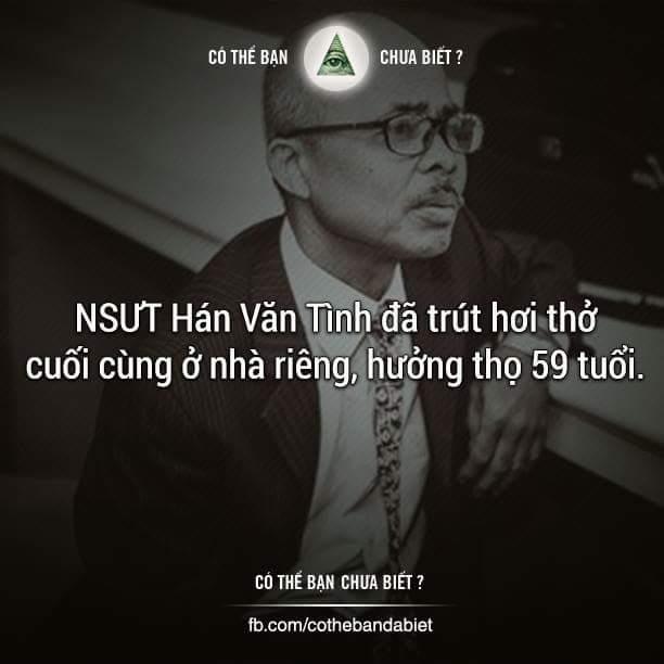 TIN BUỒN: Nghệ sĩ Hán Văn Tình qua đời ở tuổi 59. :(  --------------------------------------- ...