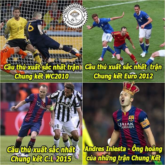 Cầu thủ lớn của những trận đấu lớn, Andrés Iniesta
