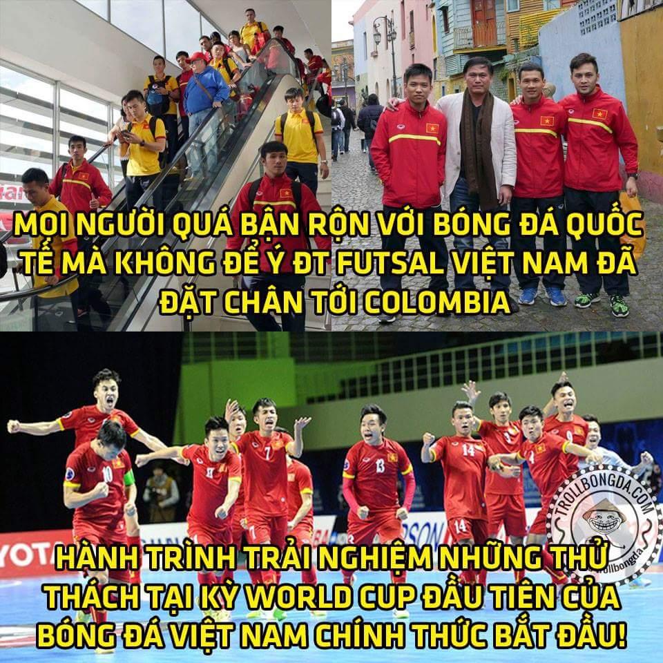 Việt Nam ta đi đá World Cup rồi bà con ơi :)))) hết lòng ủng hộ các chàng trai của chúng ta...