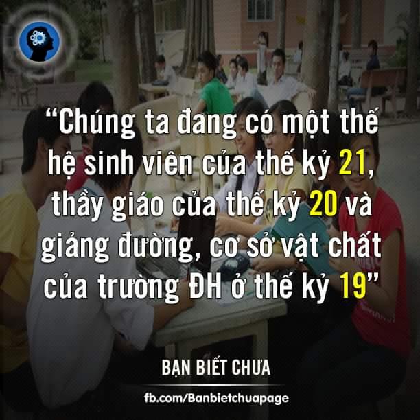 Dẫn lời một giáo sư Singapore nhận xét thực trạng hiện nay của các trường ĐH Việt Nam.