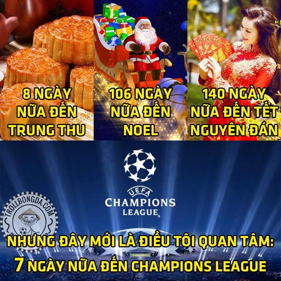 Đếm ngược chờ Champions League nào :3
