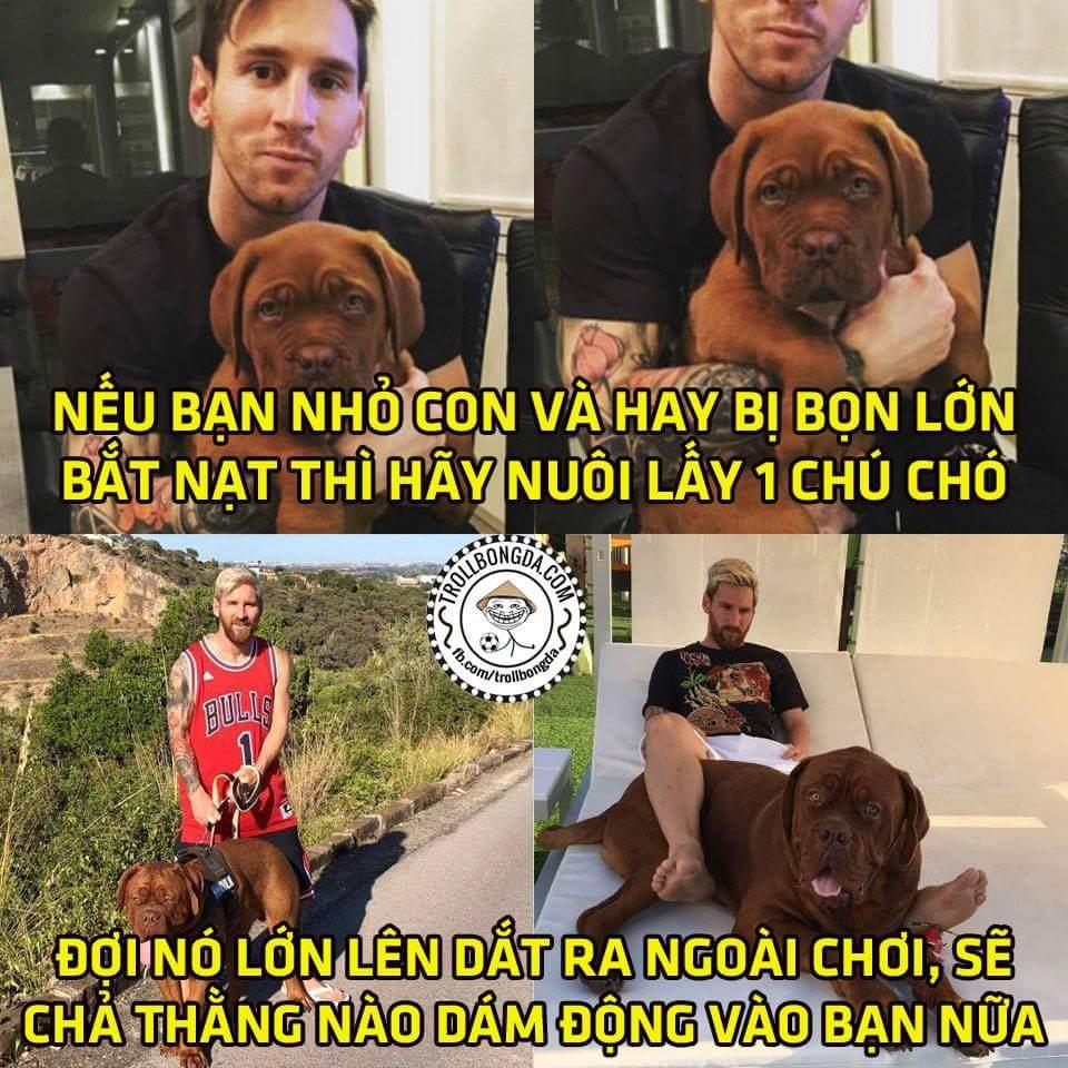 Cận cảnh chú chó sau khi nuôi 8 tháng của Messi, chủ vs chó nhìn ngầu hết tầm luôn...