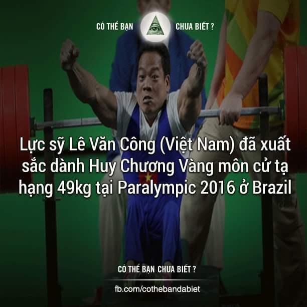 Lực sỹ Lê Văn Công bị chứng teo tóp chân từ nhỏ do mẹ bị sốt xuất huyết khi mang thai nhưng Lê...