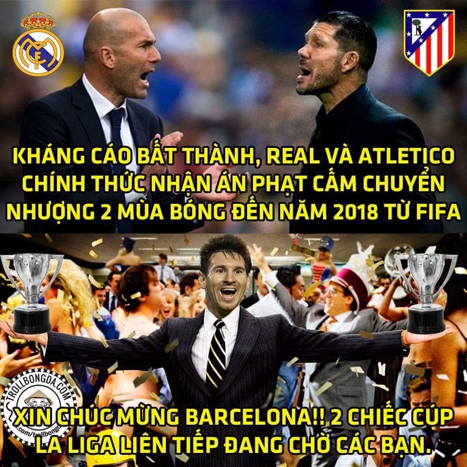 Trao luôn cup La liga 2 mùa tới cho Barca luôn đi