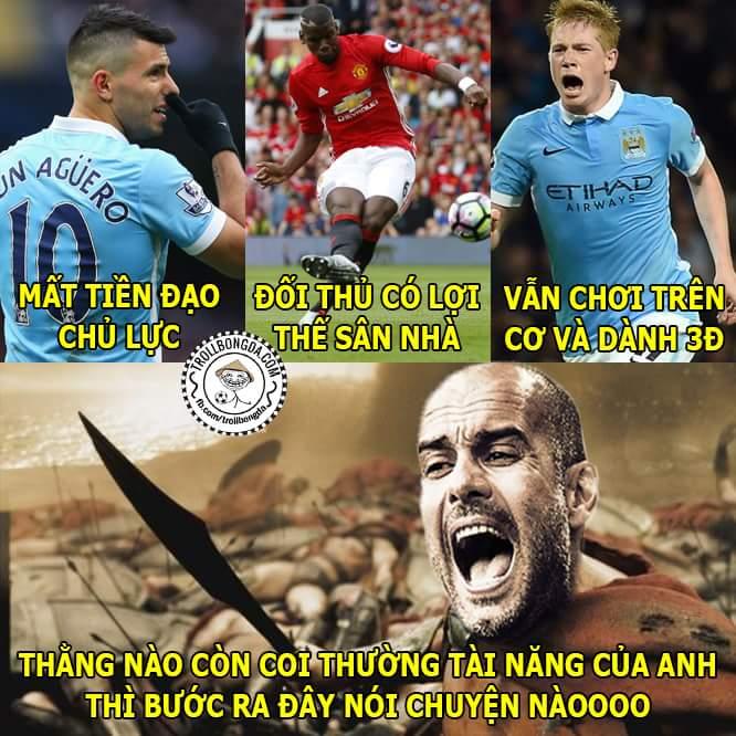 Mourinho và MU thua toàn tập rồi, hơn mỗi số thẻ phạt =))  Pep Guardiola quá bá...