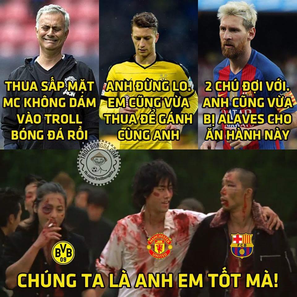 MU thua MC cũng bình thường thôi, Dortmund và Barca thua 2 đội mới lên hạng mới là đáng nói...