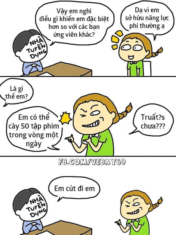 Khi sinh viên đi xin việc. :v