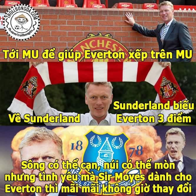 Nếu có chàng trai nào yêu bạn như Moyes yêu Everton, hãy cưới anh ấy !!!...