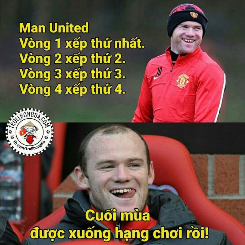 Man Utd đang có thành tích lùi dần đều rất đáng nể :))))))  --Thu
