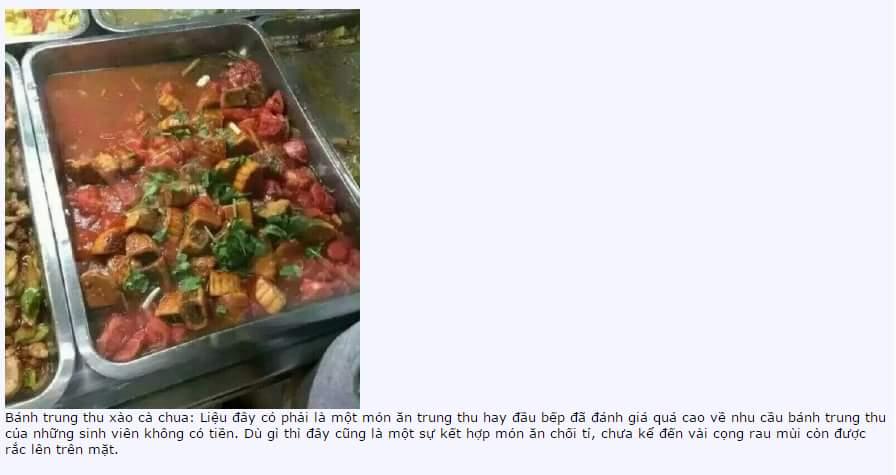 Phỏng vấn người đầu bếp làm món bánh trung thu xào cà chua:   Đây chỉ là một sự ngẫu hứng của...