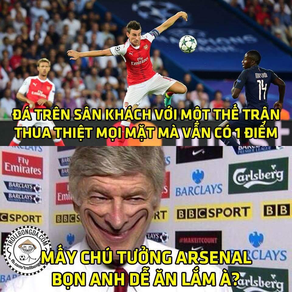 Hết giờ: Arsenal 1-1 PSG...hòa trên thế thua có thể nói pháo thủ năm nay đã vươn tầm đẳng cấp...