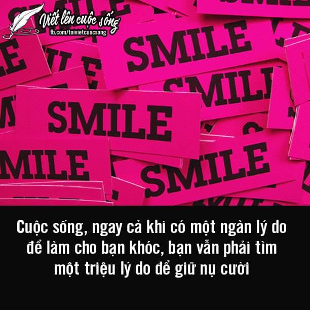 Đời thanh thản nhờ nụ cười làm căn bản.