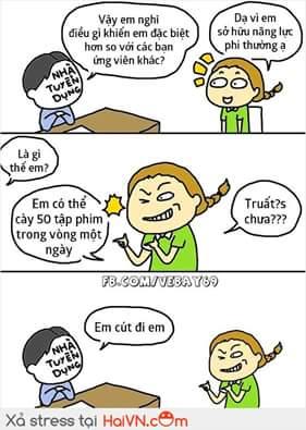 Admin rất ít khi đi phỏng vấn xin việc :v Nguồn: vebay69