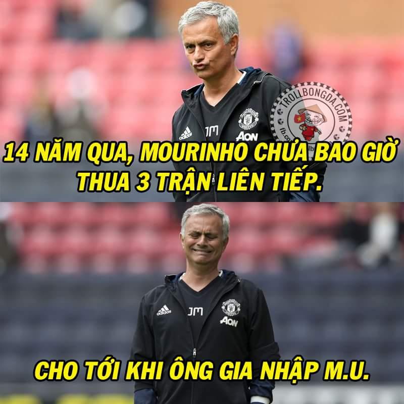 Hết giờ: Watford 3-1 M.U. Chúc mừng Mourinho san bằng kỷ lục cá nhân tồn tại suốt 14 năm trời....