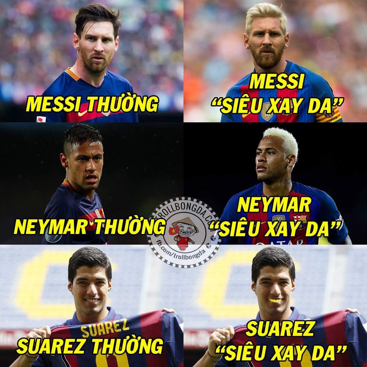 Khi MSN vàng hóa. :v  #Messi #Neymar