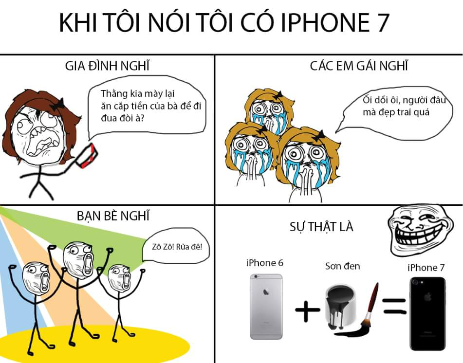 Ra iPhone 7 không khác gì iPhone 6s mấy, thánh làm tiền apple đó mà. :v
