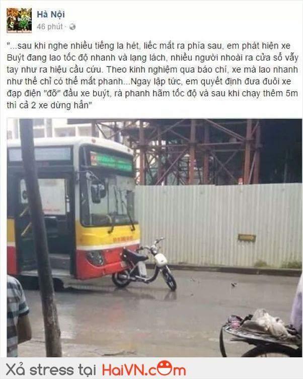 Cảm động tấm gương dũng cảm của bạn đi xe đạp !