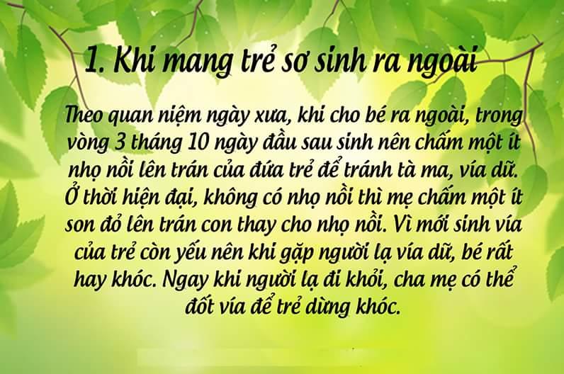 NHỮNG ĐIỀU ĐẠI KỴ TRONG VIỆC CHĂM SÓC TRẺ SƠ SINH  Trong quan niệm dân gian Việt Nam, có rất...