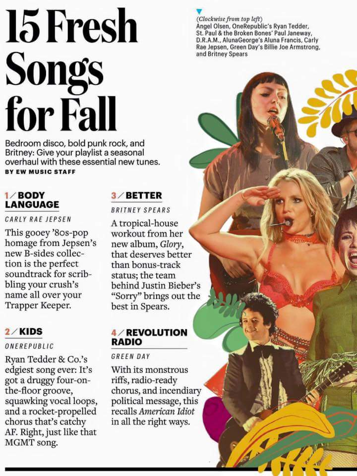 Entertainment Weekly: Britney Spears Better is the 3rd best song for