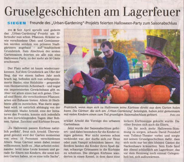 Zeitungsartikel Siegener Zeitung
