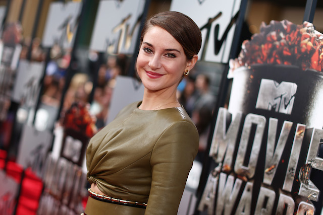 Shailene Woodley posing on the red carpet | Christopher Polk/Getty Images