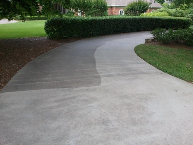 Remove driveway sealer concrete