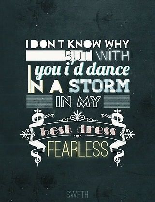 Lyrics to fearless taylor swift