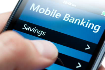 Mobile Banking on Smartphone Close-up