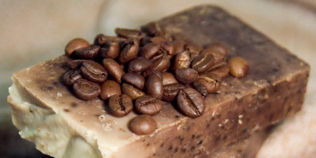 Мыло ручной работы с молотым кофе