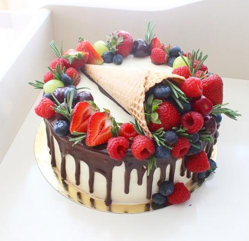 Кремовый торт на день рождения маме фото