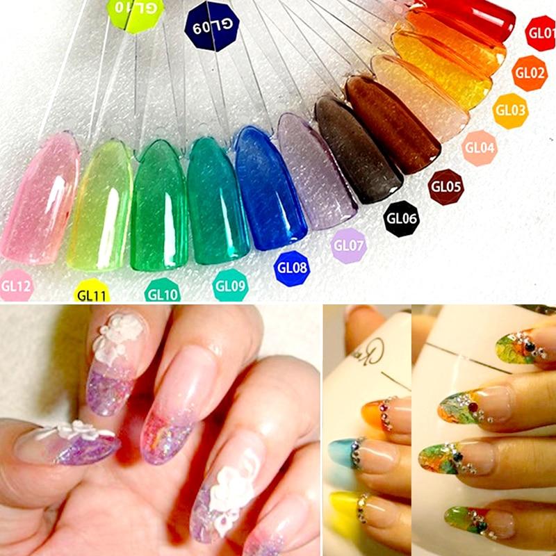 Glass glaze nails