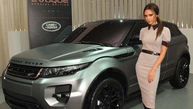 Victoria beckham launches new range rover