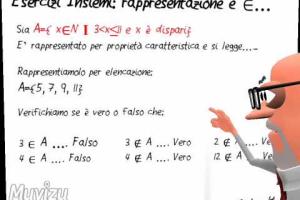 10 Esercitazione Tradizionale - Rappresentazione di un Insieme - Schooltoon