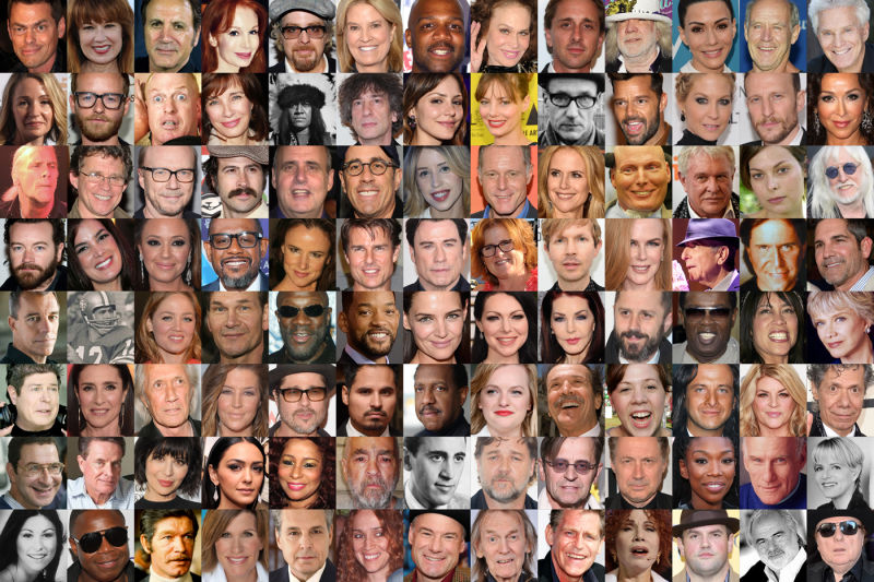 A list of famous celebrities