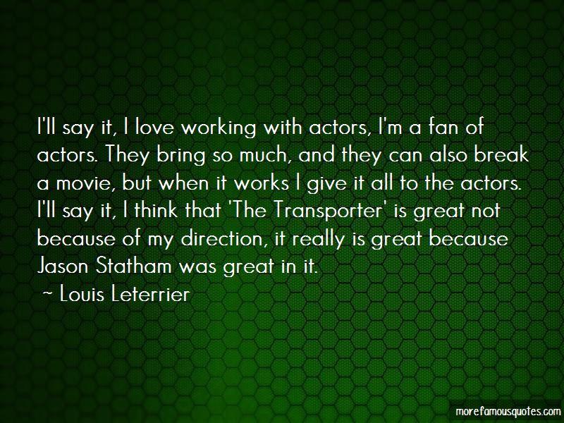 Jason statham quotes transporter