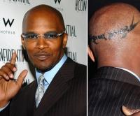 Jamie foxx tattoo on head