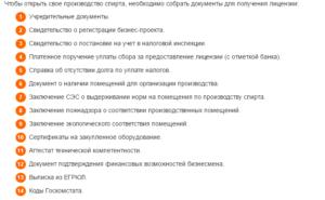 Получение лицензии на мини спирт завод