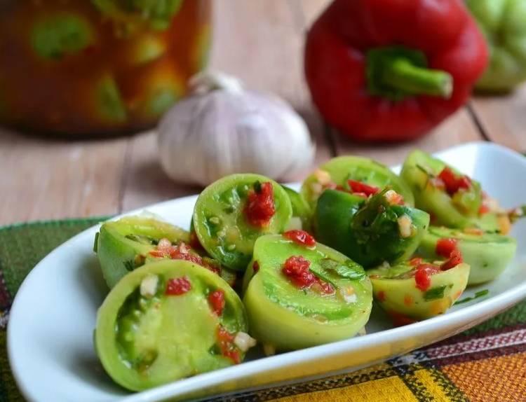 Как мариновать зеленые помидоры без стерилизации