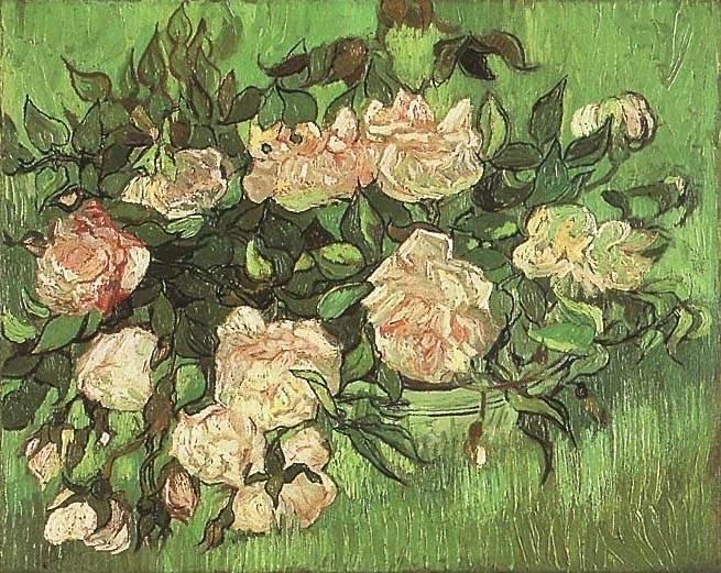 Van gogh pink roses