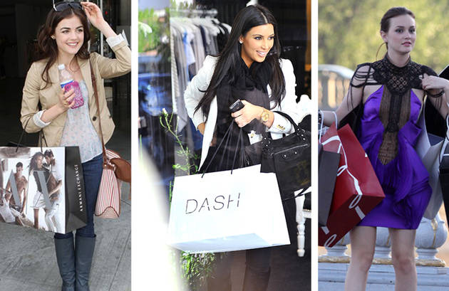 What stores do celebrities shop at