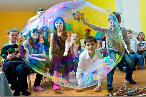 Шоу мыльных пузырей как сделать самому