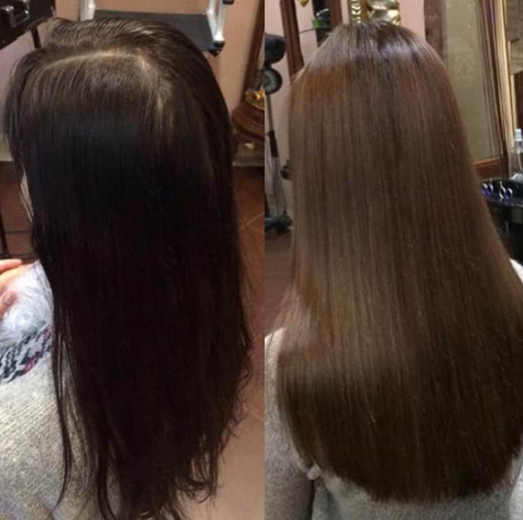 Если выбрать однотонное окрашивание волос, то такую процедуру можно без проблем провести даже в домашних условиях.